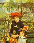 Two Sisters (On the Terrace) by Pierre Auguste Renoir